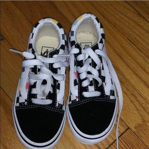 Kids Vans size12 with colorful checkers